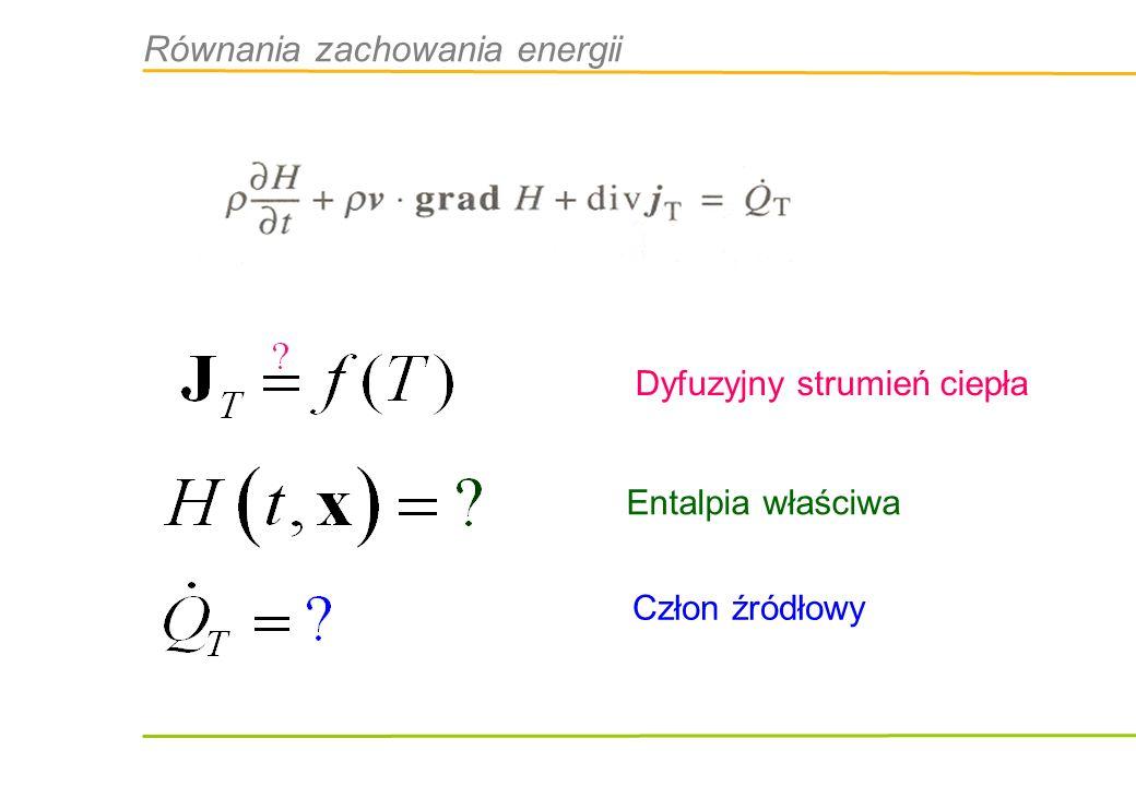 Równania zachowania energii
