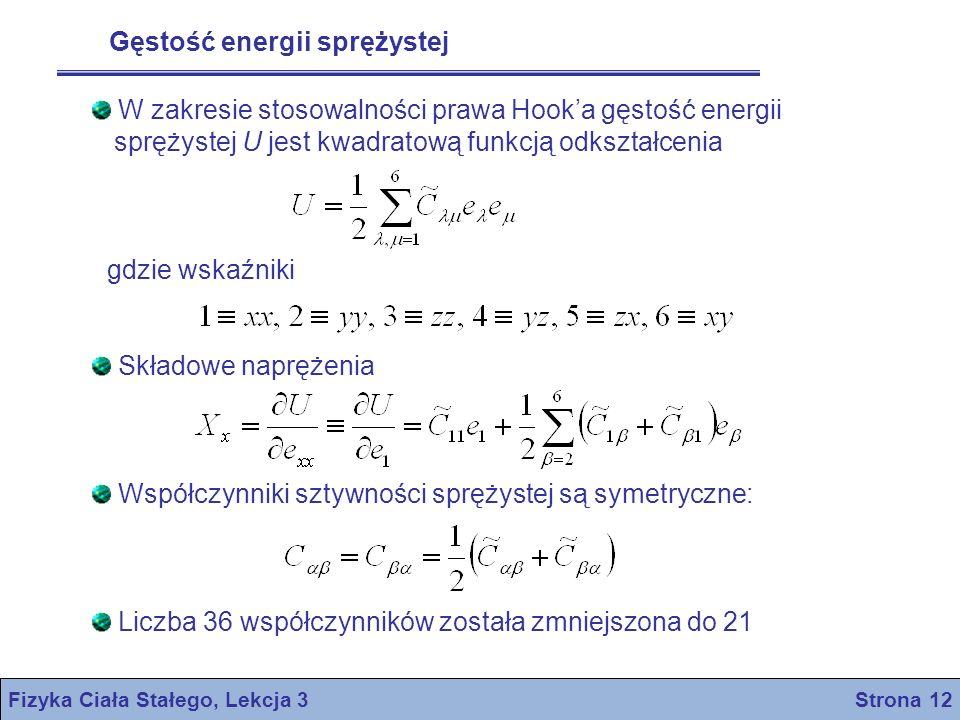 Fizyka Ciała Stałego, Lekcja 3 Strona 12