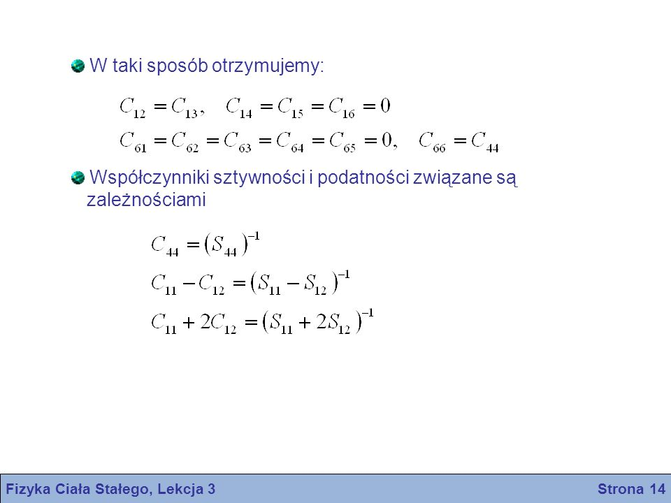 Fizyka Ciała Stałego, Lekcja 3 Strona 14