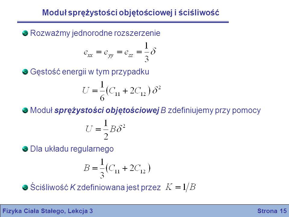 Fizyka Ciała Stałego, Lekcja 3 Strona 15