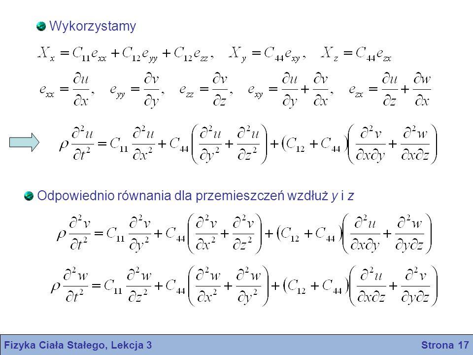 Fizyka Ciała Stałego, Lekcja 3 Strona 17