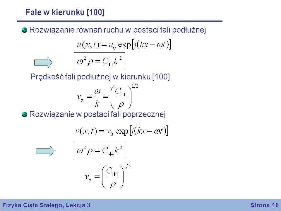 Fizyka Ciała Stałego, Lekcja 3 Strona 18