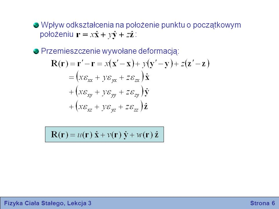 Fizyka Ciała Stałego, Lekcja 3 Strona 6