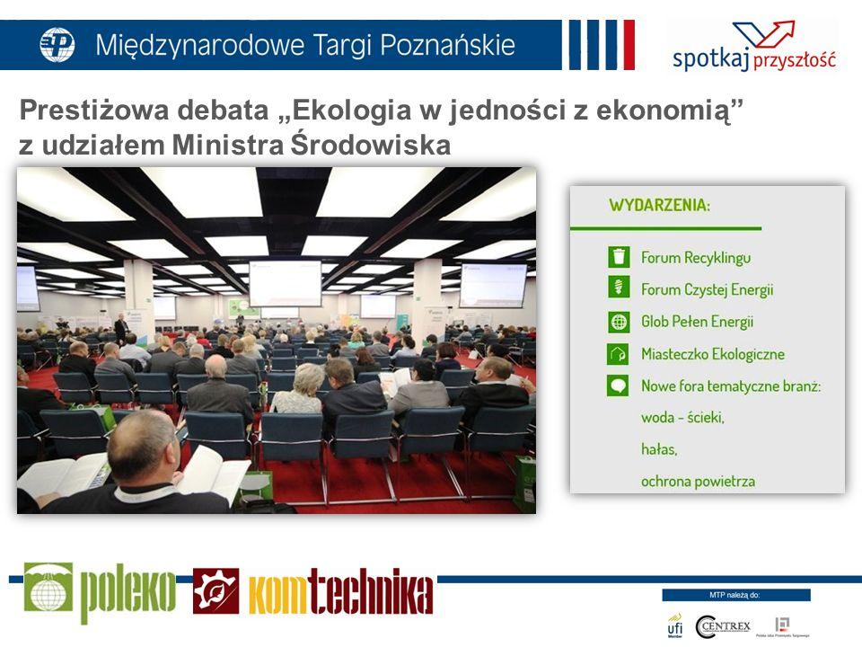 """Prestiżowa debata """"Ekologia w jedności z ekonomią z udziałem Ministra Środowiska"""