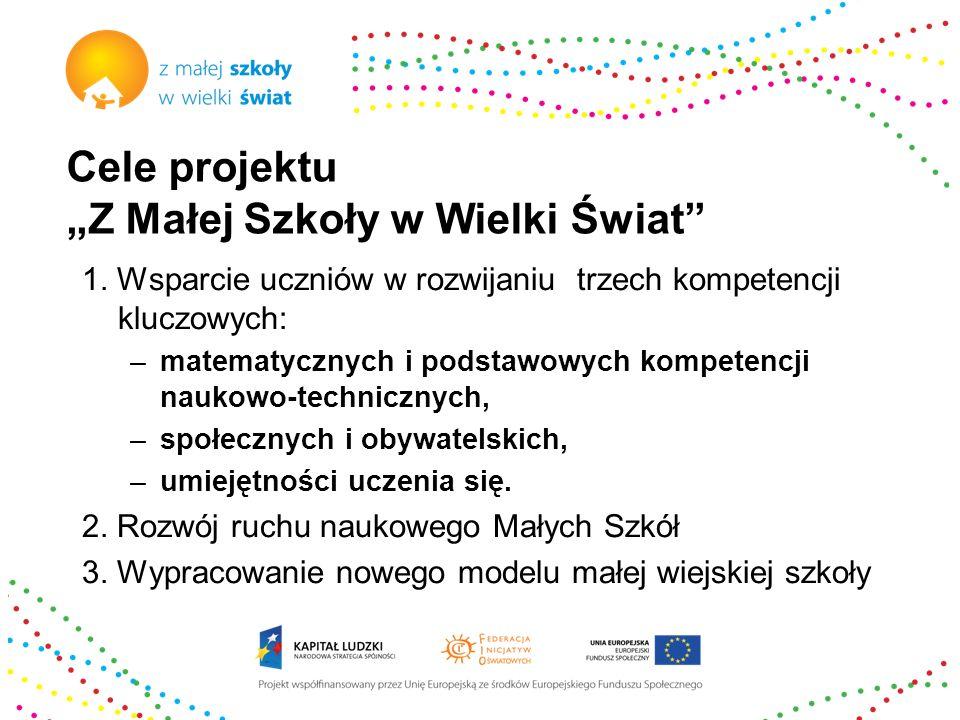 """Cele projektu """"Z Małej Szkoły w Wielki Świat"""