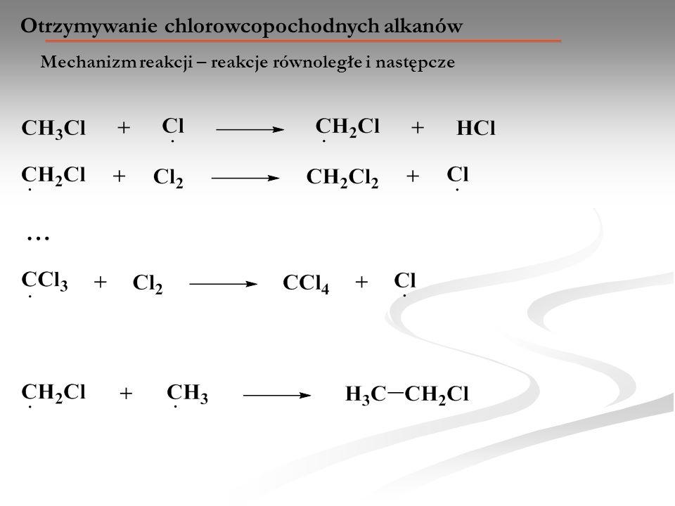 … Otrzymywanie chlorowcopochodnych alkanów