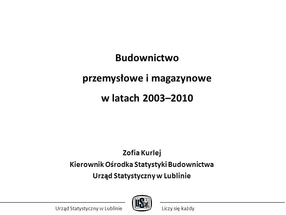 Budownictwo przemysłowe i magazynowe w latach 2003–2010