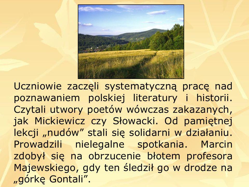 Uczniowie zaczęli systematyczną pracę nad poznawaniem polskiej literatury i historii.