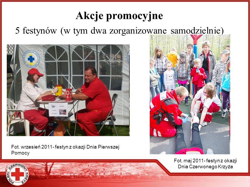 Akcje promocyjne 5 festynów (w tym dwa zorganizowane samodzielnie)