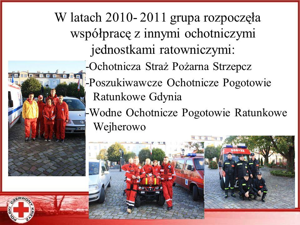 W latach 2010- 2011 grupa rozpoczęła współpracę z innymi ochotniczymi jednostkami ratowniczymi: