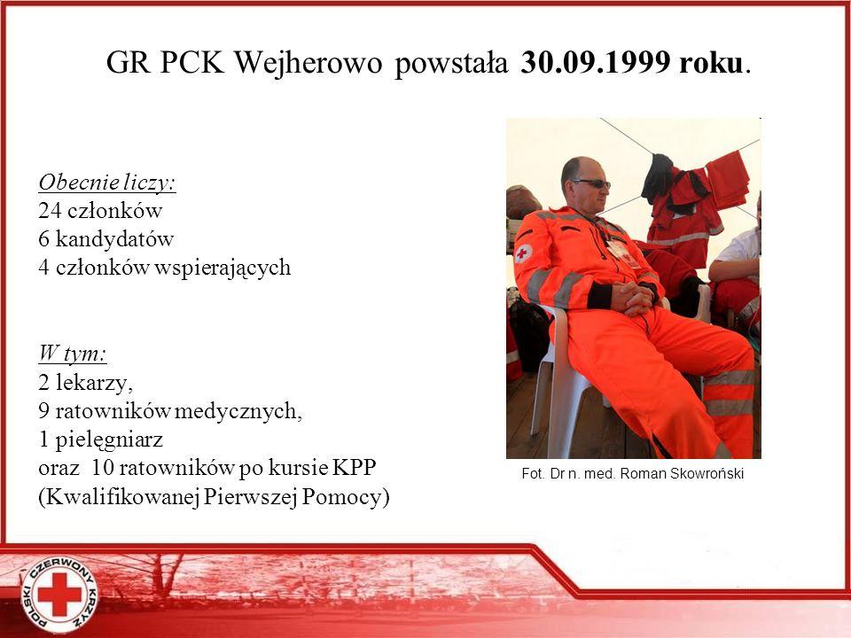 GR PCK Wejherowo powstała 30.09.1999 roku.
