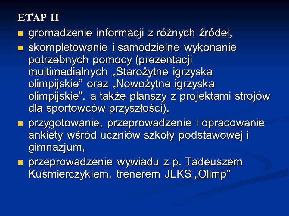 ETAP II gromadzenie informacji z różnych źródeł,