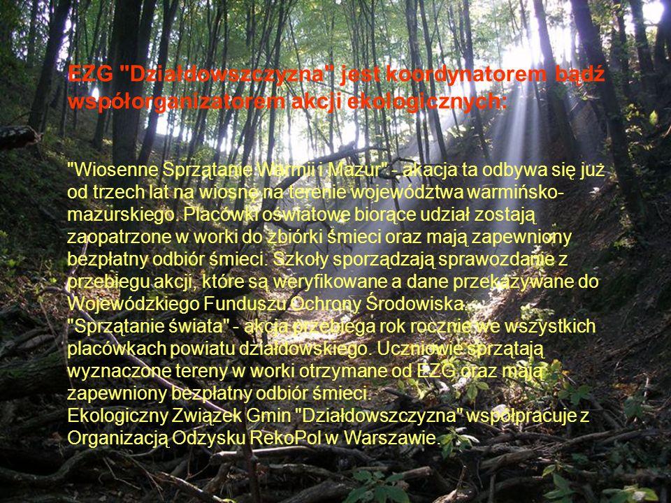 EZG Działdowszczyzna jest koordynatorem bądź współorganizatorem akcji ekologicznych: