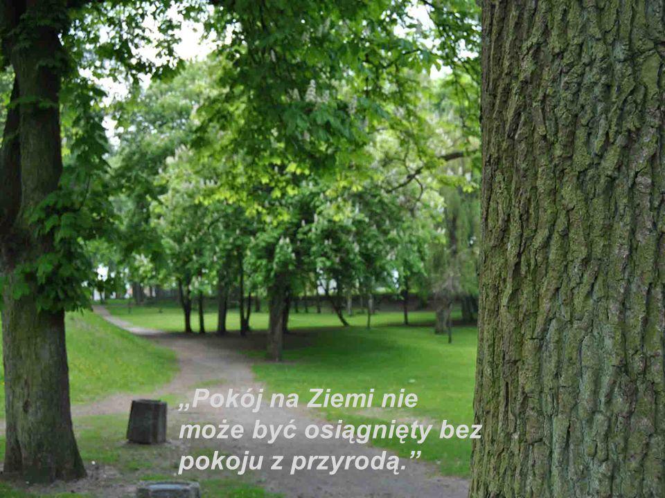 """""""Pokój na Ziemi nie może być osiągnięty bez pokoju z przyrodą."""