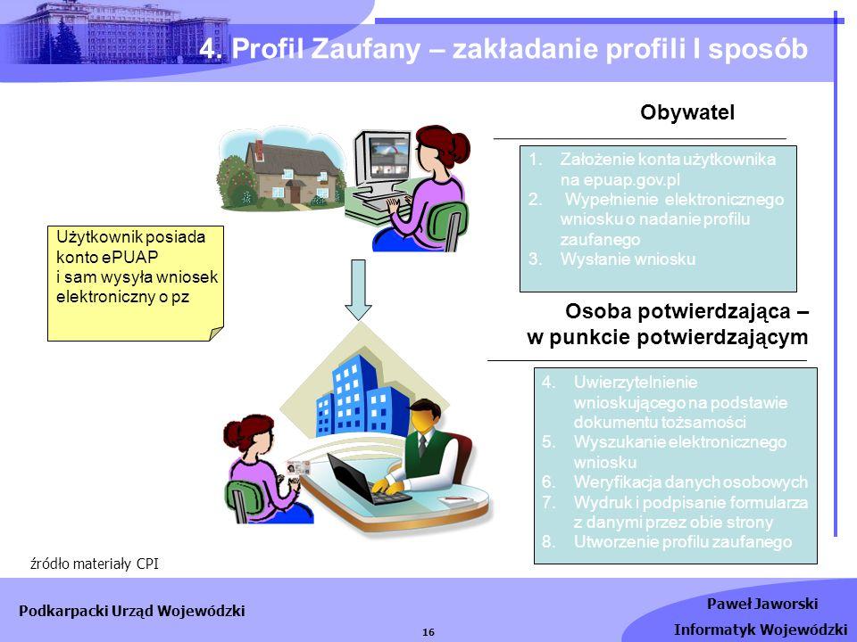 4. Profil Zaufany – zakładanie profili I sposób