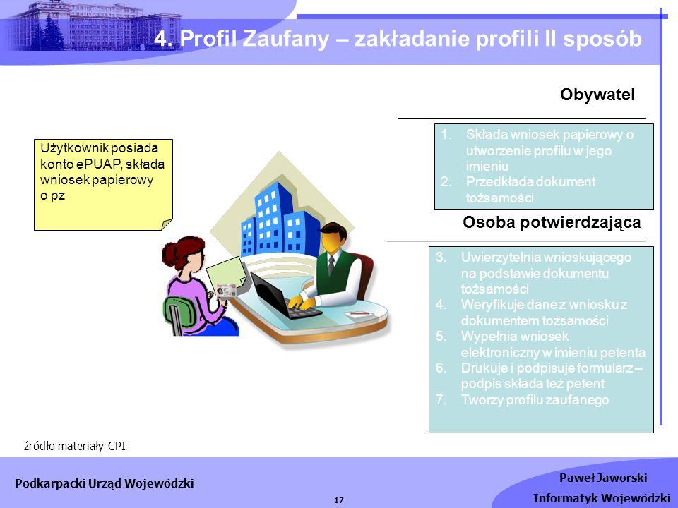 4. Profil Zaufany – zakładanie profili II sposób