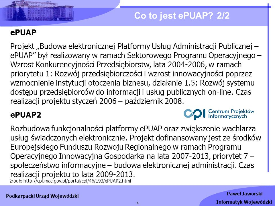 Co to jest ePUAP 2/2 ePUAP.