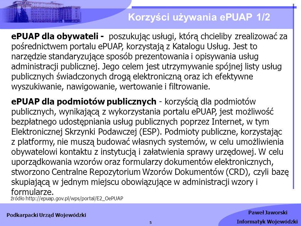 Korzyści używania ePUAP 1/2