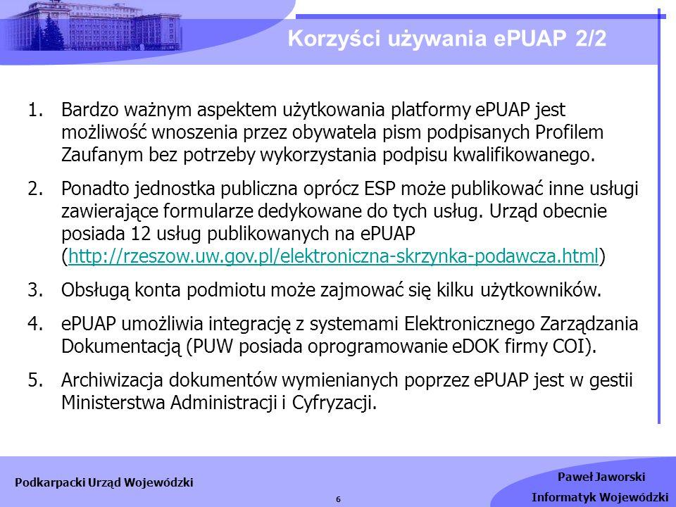 Korzyści używania ePUAP 2/2