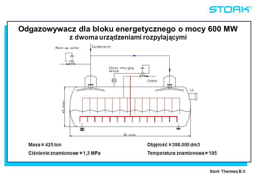 18045-12 5 June, 1998. Odgazowywacz dla bloku energetycznego o mocy 600 MW z dwoma urządzeniami rozpylającymi.