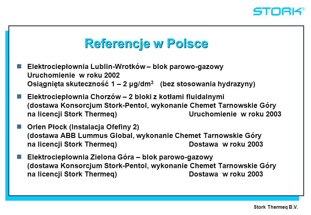 Referencje w Polsce Elektrociepłownia Lublin-Wrotków – blok parowo-gazowy. Uruchomienie w roku 2002.