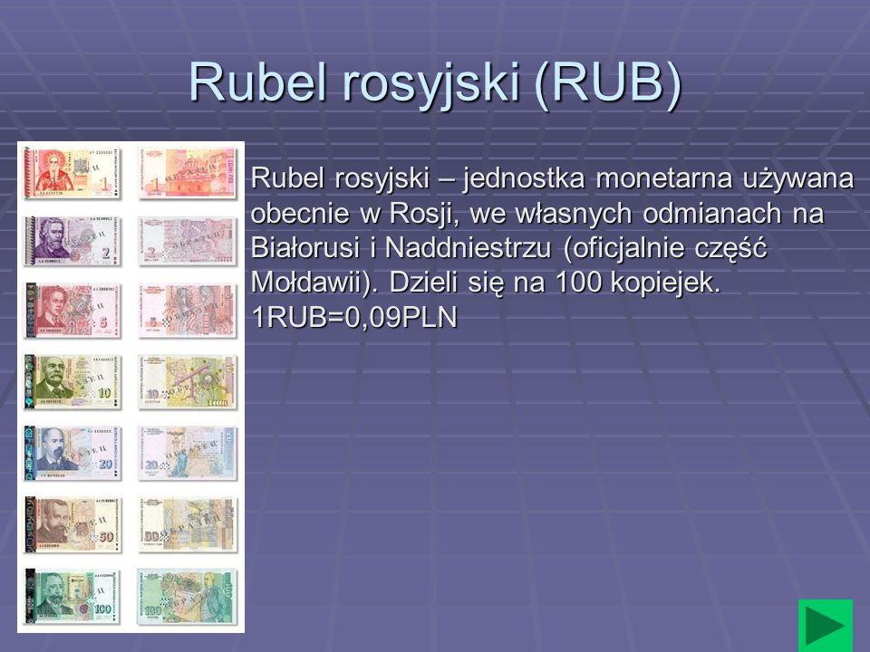 Rubel rosyjski (RUB)