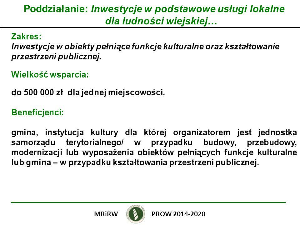 Poddziałanie: Inwestycje w podstawowe usługi lokalne dla ludności wiejskiej…