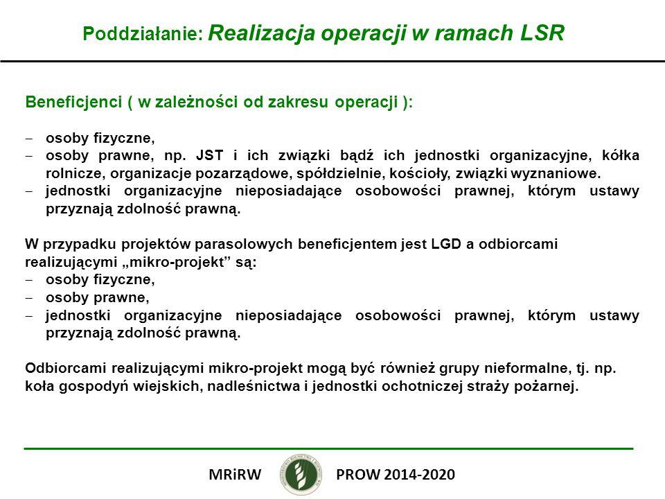 Poddziałanie: Realizacja operacji w ramach LSR