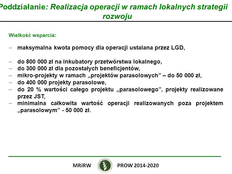 Poddziałanie: Realizacja operacji w ramach lokalnych strategii rozwoju