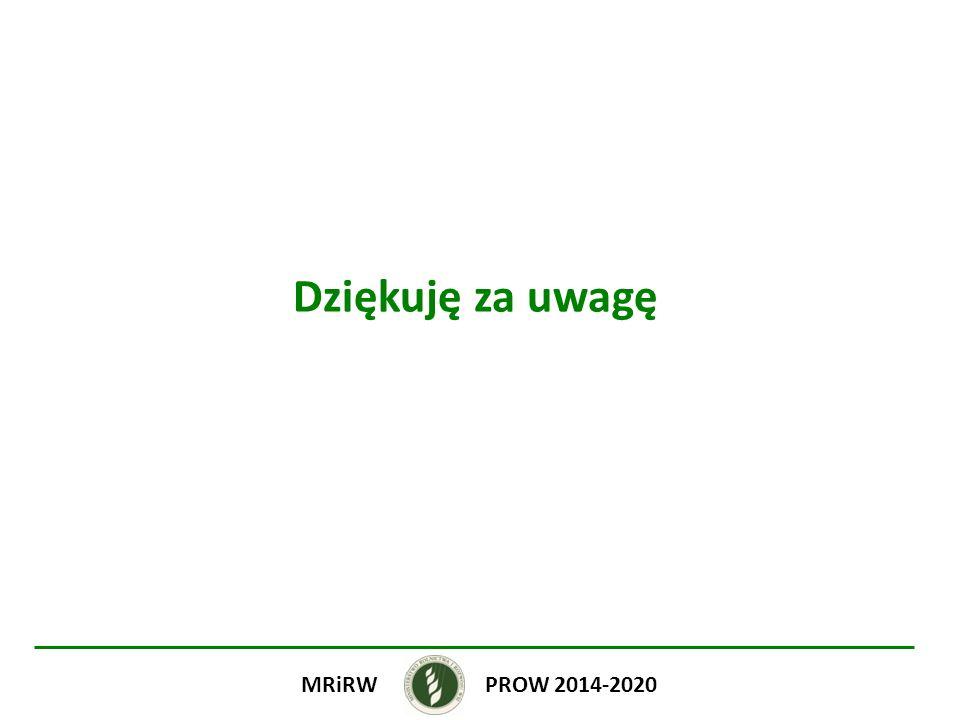 Dziękuję za uwagę PROW 2014-2020 MRiRW
