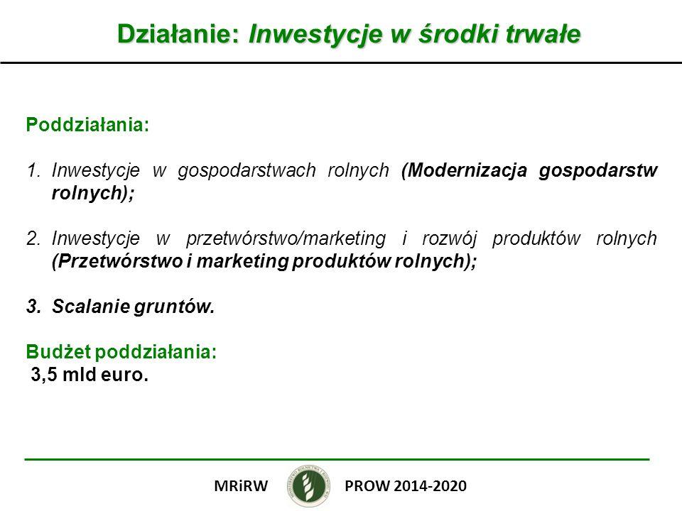 Działanie: Inwestycje w środki trwałe