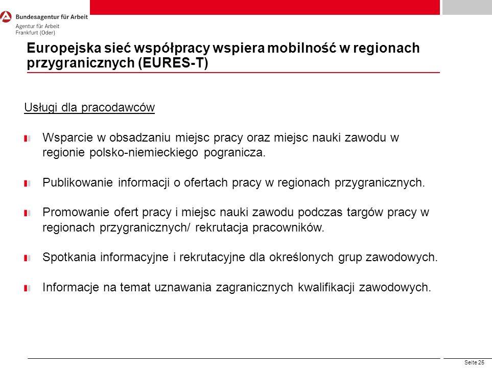 Europejska sieć współpracy wspiera mobilność w regionach przygranicznych (EURES-T)