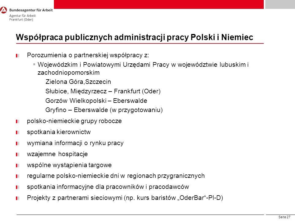 Współpraca publicznych administracji pracy Polski i Niemiec