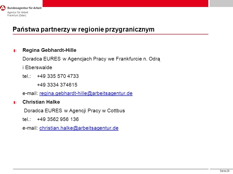 Państwa partnerzy w regionie przygranicznym