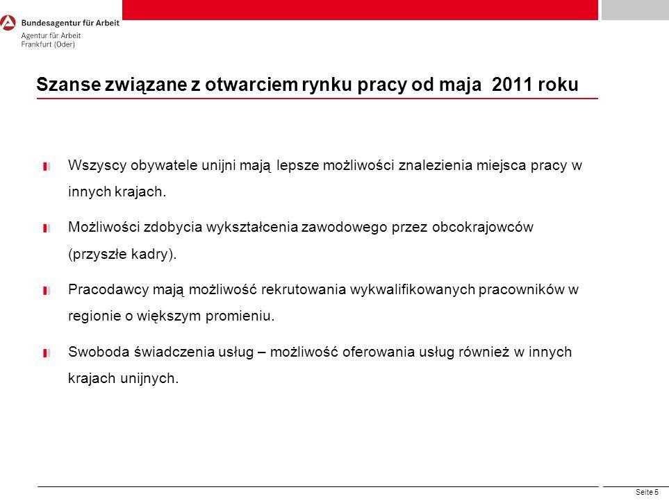 Szanse związane z otwarciem rynku pracy od maja 2011 roku