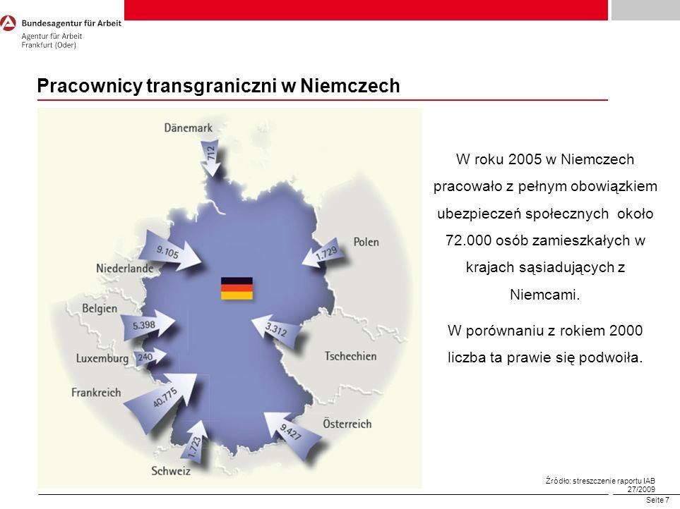 Pracownicy transgraniczni w Niemczech