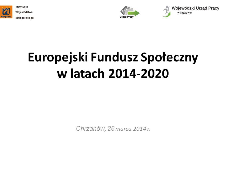 Europejski Fundusz Społeczny w latach 2014-2020