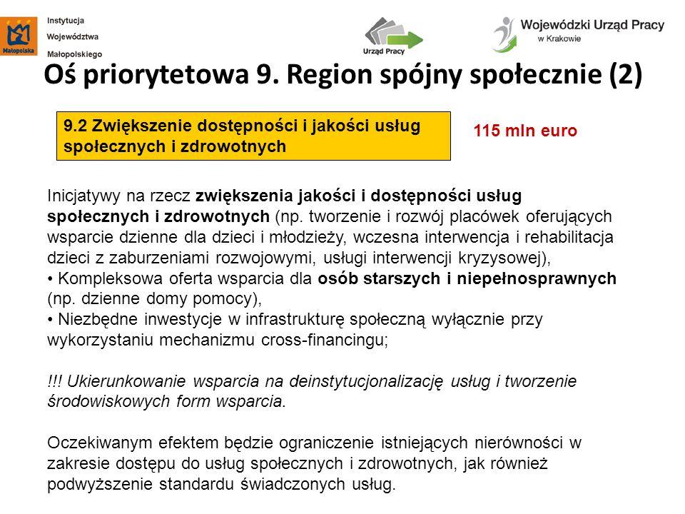 Oś priorytetowa 9. Region spójny społecznie (2)
