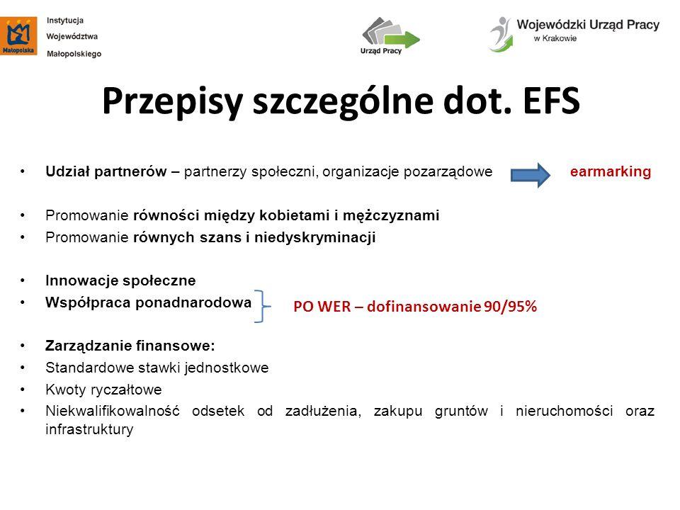Przepisy szczególne dot. EFS