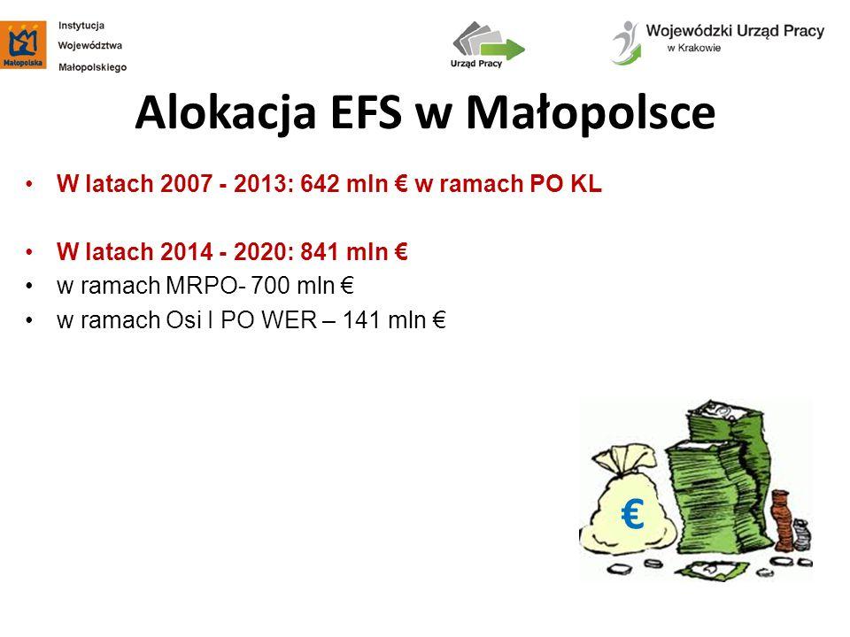 Alokacja EFS w Małopolsce