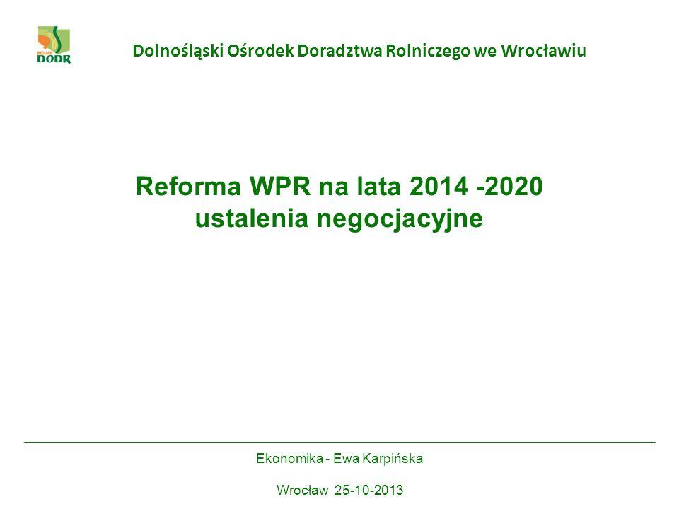 Reforma WPR na lata 2014 -2020 ustalenia negocjacyjne