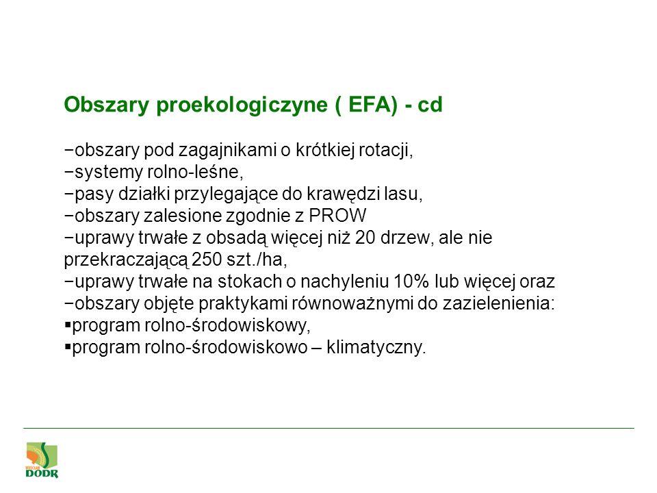 Obszary proekologiczyne ( EFA) - cd