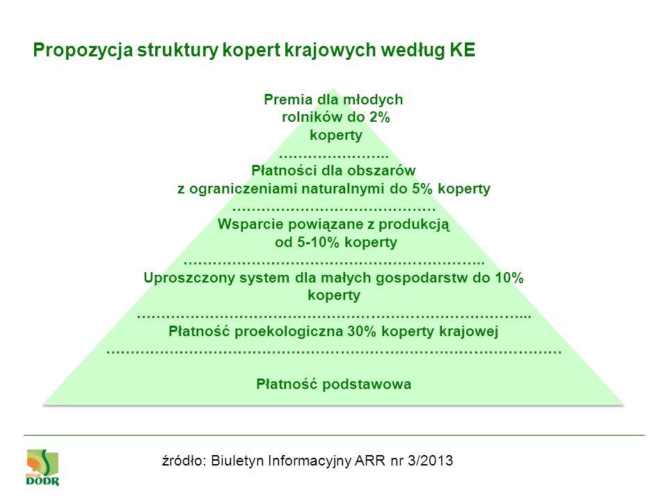 Propozycja struktury kopert krajowych według KE
