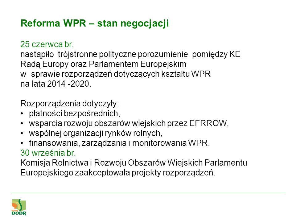 Reforma WPR – stan negocjacji