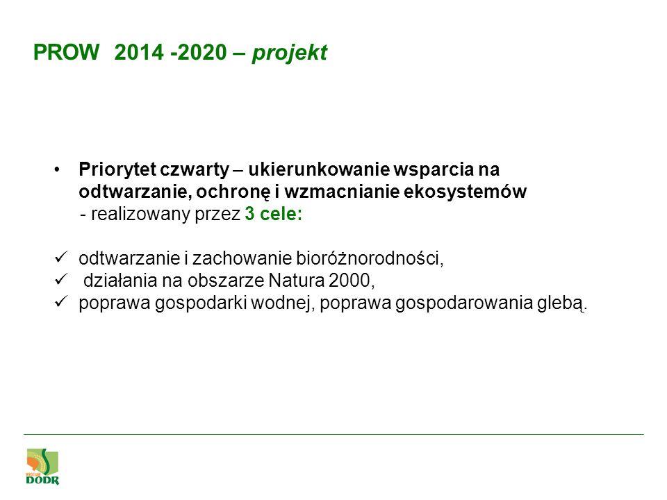PROW 2014 -2020 – projekt Priorytet czwarty – ukierunkowanie wsparcia na odtwarzanie, ochronę i wzmacnianie ekosystemów.