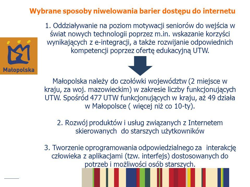 Wybrane sposoby niwelowania barier dostępu do internetu