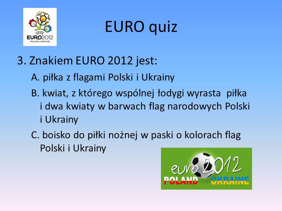 EURO quiz 3. Znakiem EURO 2012 jest: