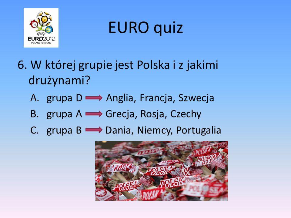 EURO quiz 6. W której grupie jest Polska i z jakimi drużynami