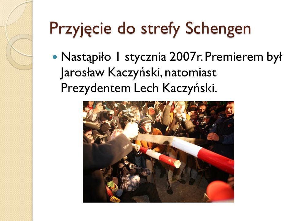 Przyjęcie do strefy Schengen
