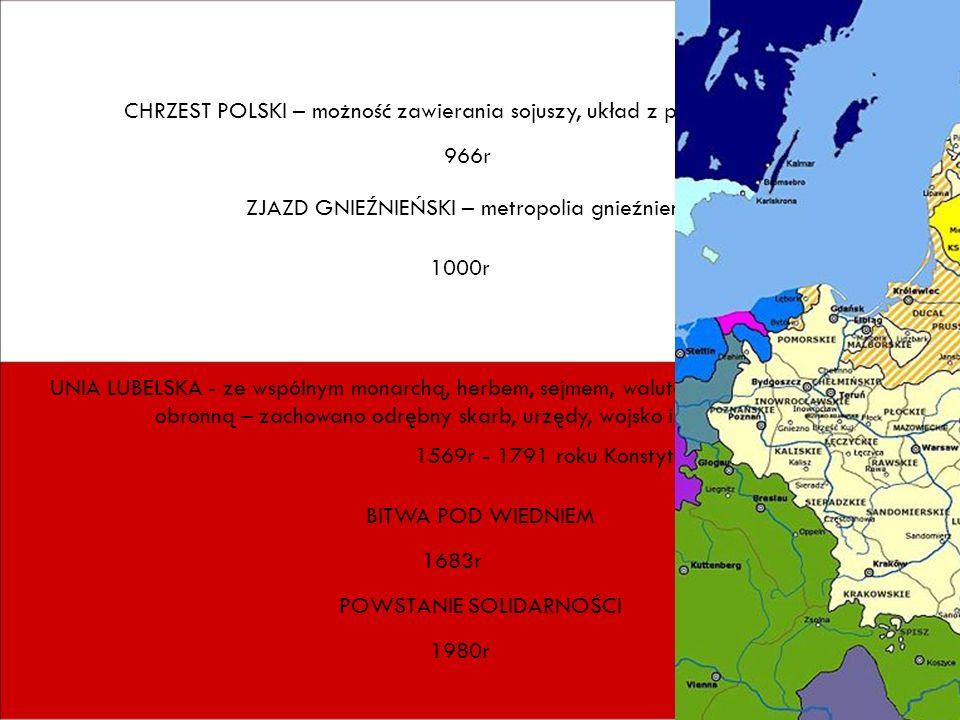 CHRZEST POLSKI – możność zawierania sojuszy, układ z państwem czeskim